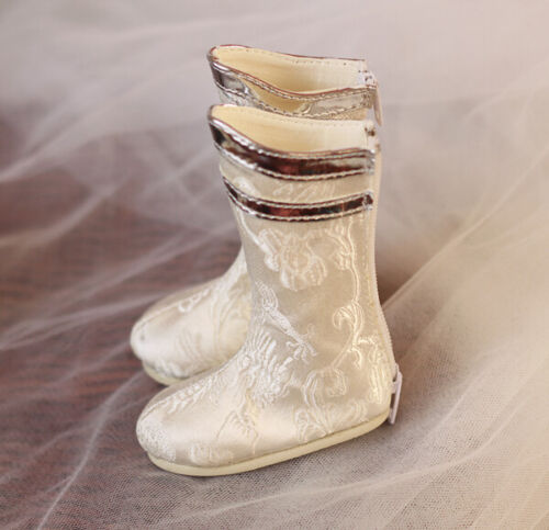 Mimi Collection MSD Doc 1//3 SD BJD Obitsu Doll White High Boots Shoes Toys