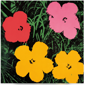 Poster-Kunstdruck-Flowers-C-1964-Andy-Warhol-Pop-Art-Bild-Artprint-Desko-60x60