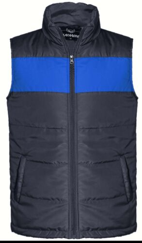 Mens Quilted Padded Lined Gilet Gillet Sleeveless Coat Body Warmer Jacket S XXXL