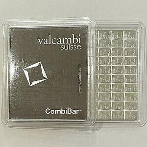 100 Gram Valcambi Silver Bar CombiBar™ (100 X 1 g. w/Assay)  .999 Fine Silver