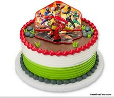POWER RANGERS Cake Decoration Party Supplies TOPPER KIT Favor Gift Cupcake Asian