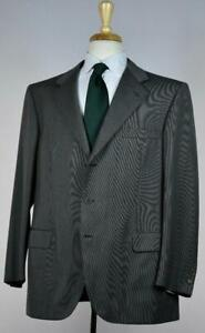 Brioni Mens 'Catone' Superfine Woven Wool Suit 44 /54 S NEW $5450 Classic Fit