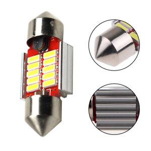 Blanco-10SMD-4014-31mm-Bombilla-LED-Lampara-de-placa-interno-Domo-Festoon-CANBUS-Sr