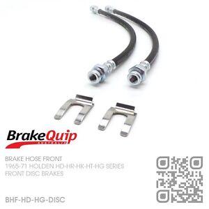 BRAKEQUIP-DISC-BRAKE-FRONT-HOSE-KIT-1965-69-HOLDEN-HD-HR-X2-HK-HT-HG-MONARO
