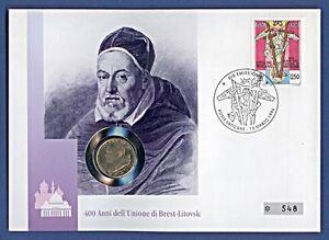 Numisbrief-Vatikan-Brest-Litovsk-100-L-Johannes-Paul-Stemp-1996-548-NBA8-22