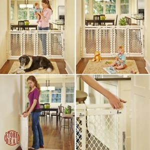 Indoor Safety Gate Extra Wide Fence Swing Pet Dog Baby Toddler Walk Thru Door