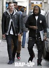 Balmain Denim Jeans Size 33 Kanye west 2 zip waxed leather Side Supreme
