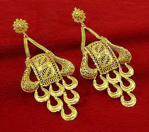 Ethnic Designer Gold Plated Chandelier Earrings Set Indian ...