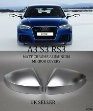 NEW AUDI A3 S3 RS3 CHROME ALUMINIUM MIRROR COVERS 2013 ON LH & RH PAIR