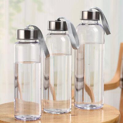Travel Clear Bottle Sport Plastic Fruit Juice Water Drinks Cup 300//400//500ML