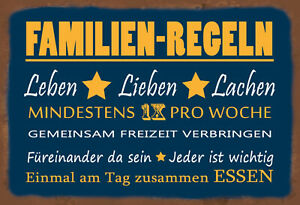 Family - Fix Lieben Lachen Tin Sign Shield 20 X 30 CM FA0957
