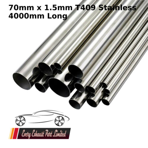 70mm x 1.5mm x 4000mm (160) T409 Stainless Steel Tube Pipe Exhaust Repair 4M