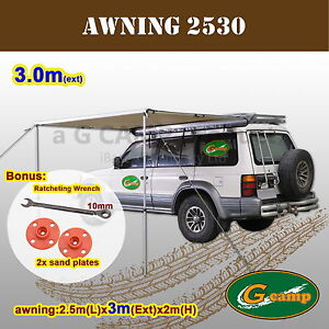 G-CAMP-2-5M-x-3M-AWNING-ROOF-TOP-TENT-CAMPER-TRAILER-4WD-4X4-CAMPING-CAR
