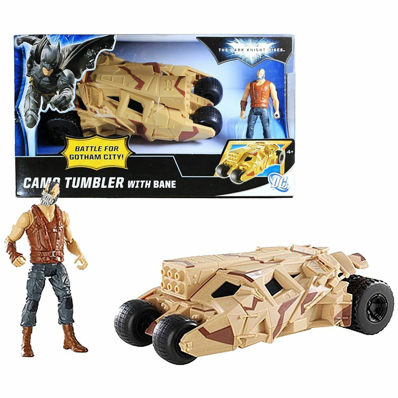 Dark Knight Rises - Camo Tumbler with Bane Action Figure   Vehicle