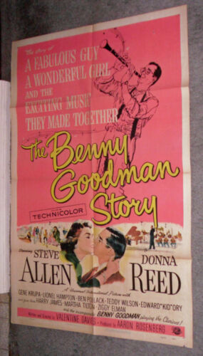 THE BENNY GOODMAN STORY orig movie poster LIONEL HAMPTON/ZIGGY ELMAN/GENE KRUPA