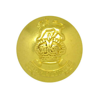 Metal gold dome militaire royal coat of arms crest shank bouton taille 40L 25mm