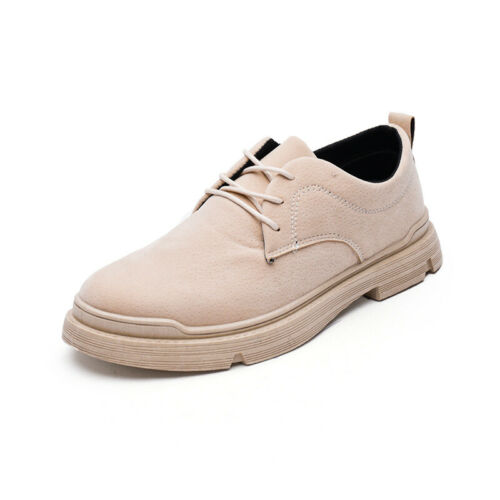 Details about  /Retro Mens Leisure Faux Leather Shoes Round Toe Walking Sports Non-slip Casual B
