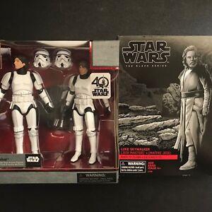 Star Wars Elite Han Solo Luke Skywalker Stormtrooper Noir Série 6 Ahch-to