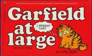 Charmant Garfield 1th Book: Garfield At Large (anglais, 1. édition 1980) Z 1-2-afficher Le Titre D'origine Belle Apparence