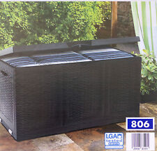 Multibox in Geflecht-Optik & Rollwalzen Auflagenbox Gartentruhe Kissenbox Truhe