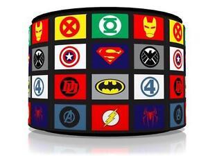 Superhero logos ceiling light lamp light shade 11 kids room free p image is loading superhero logos ceiling light lamp light shade 11 aloadofball Gallery