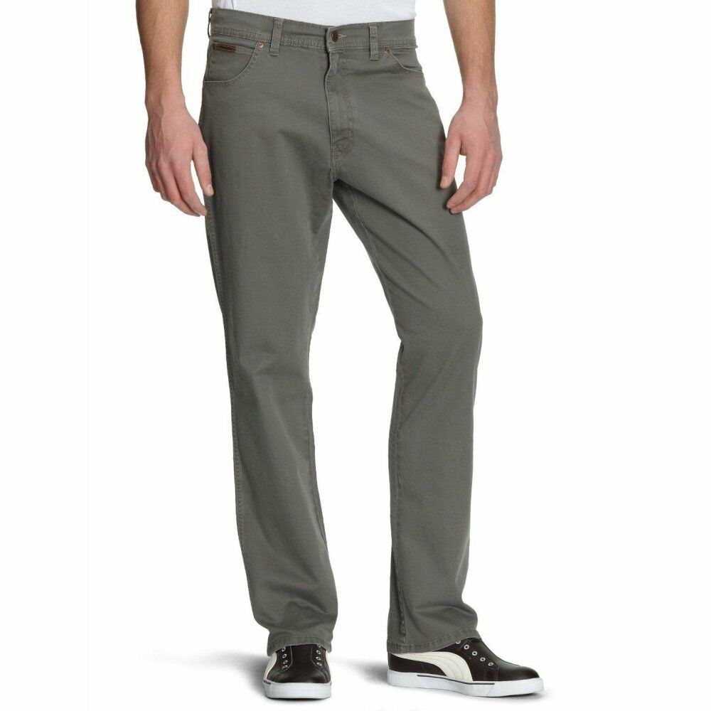 Wrangler Texas Stretch Twill Jeans Armee Grau Erhältich in Allen Größen | Schön geformt  | Eine Große Vielfalt An Modelle 2019 Neue  | Deutschland Store