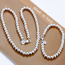 """Fashion 925Sterling Silver 8MM 20/"""" Hollow Buddha Beads Unisex Necklace GN111-2"""