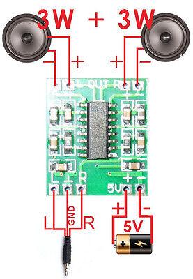 MINI 2.0 Audio Power Amplifier Digital AMP Kit 3W*2 Assembled Board MP3 DVD LCD