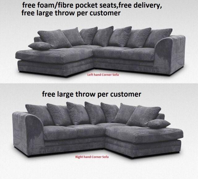 Corner Sofa Fabric Faux Leather
