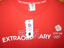Official Team GB Olympics Large Red T-Shirt Union Jack Logos Still with  L