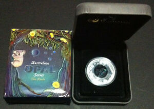 2012 1 Australian Opal Koala 1oz Silver Proof Coin No