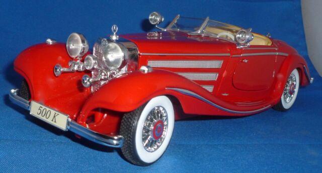 Mercedes 500 K Specialroadster Maharadscha 1936 weiß Modellauto 1:18 Maisto