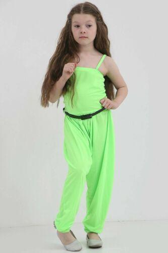 UK Fashion Bambino Kids Girls Senza maniche Pagliaccetto Tuta Vestiti Abiti età 7-13