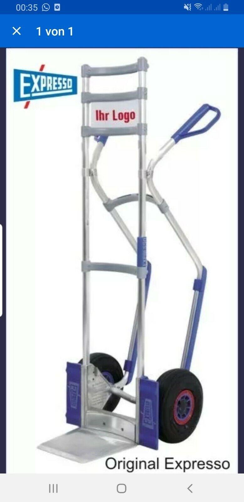 Sackkarre 250 kg Tragkraft Luftbereifung Stapelkarre Luftreifen Transportkarre
