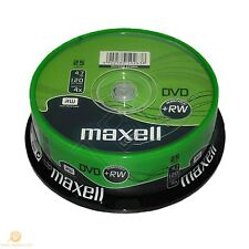 25 Maxell DVD+RW Disc 4.7GB 120Min 25 Spindle 275894 DVD Rewritable