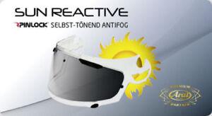 Amical Arai Casque Pinlock Sai-type Sun Reactive Selbsttönend Protectint Rx7-gp Rebel-afficher Le Titre D'origine