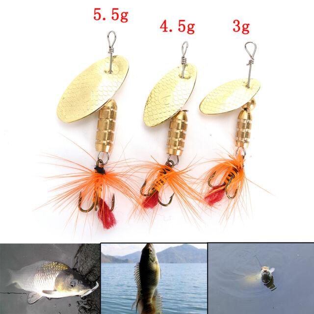 Fischköder Löffel Köder ideal für Bass Forelle Barsche Hecht rotierenden 0U