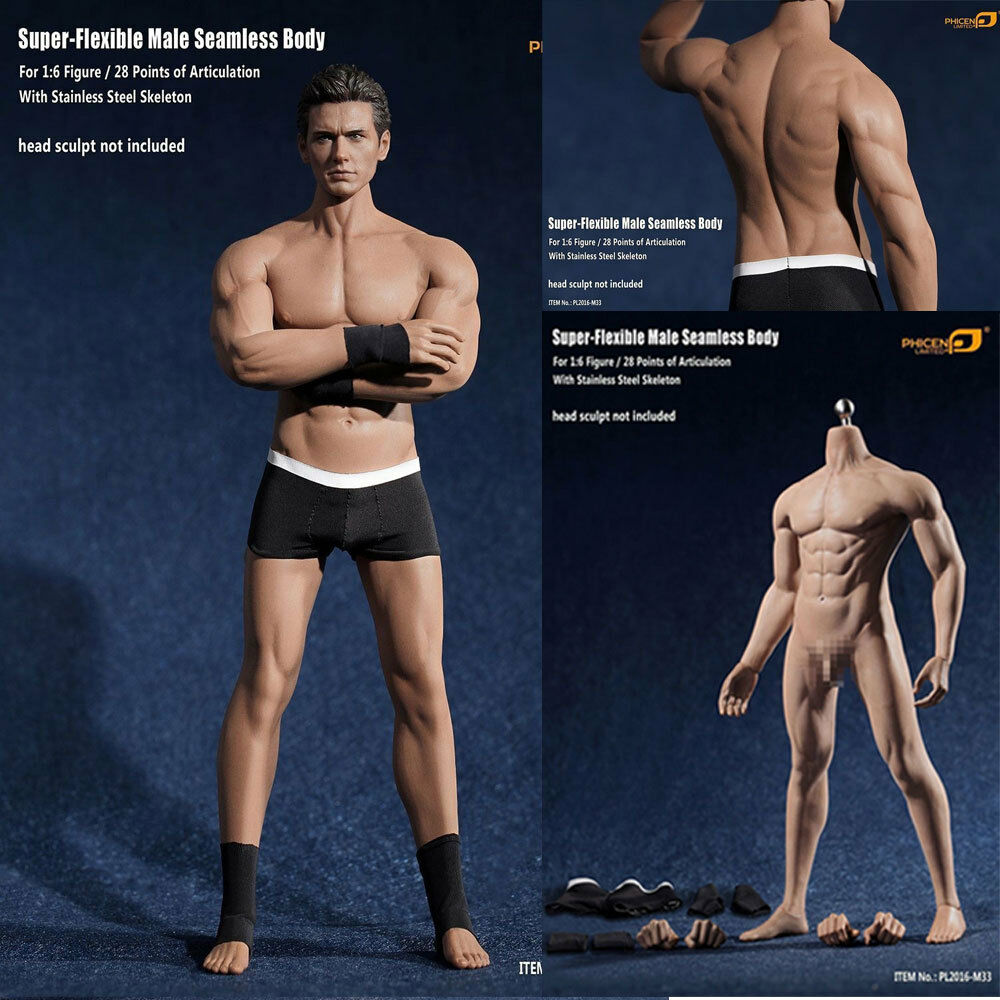 Phicen PL2016-M33 1/6 Flexible Seamless Male Muscular Body Steel Skeleton Figure