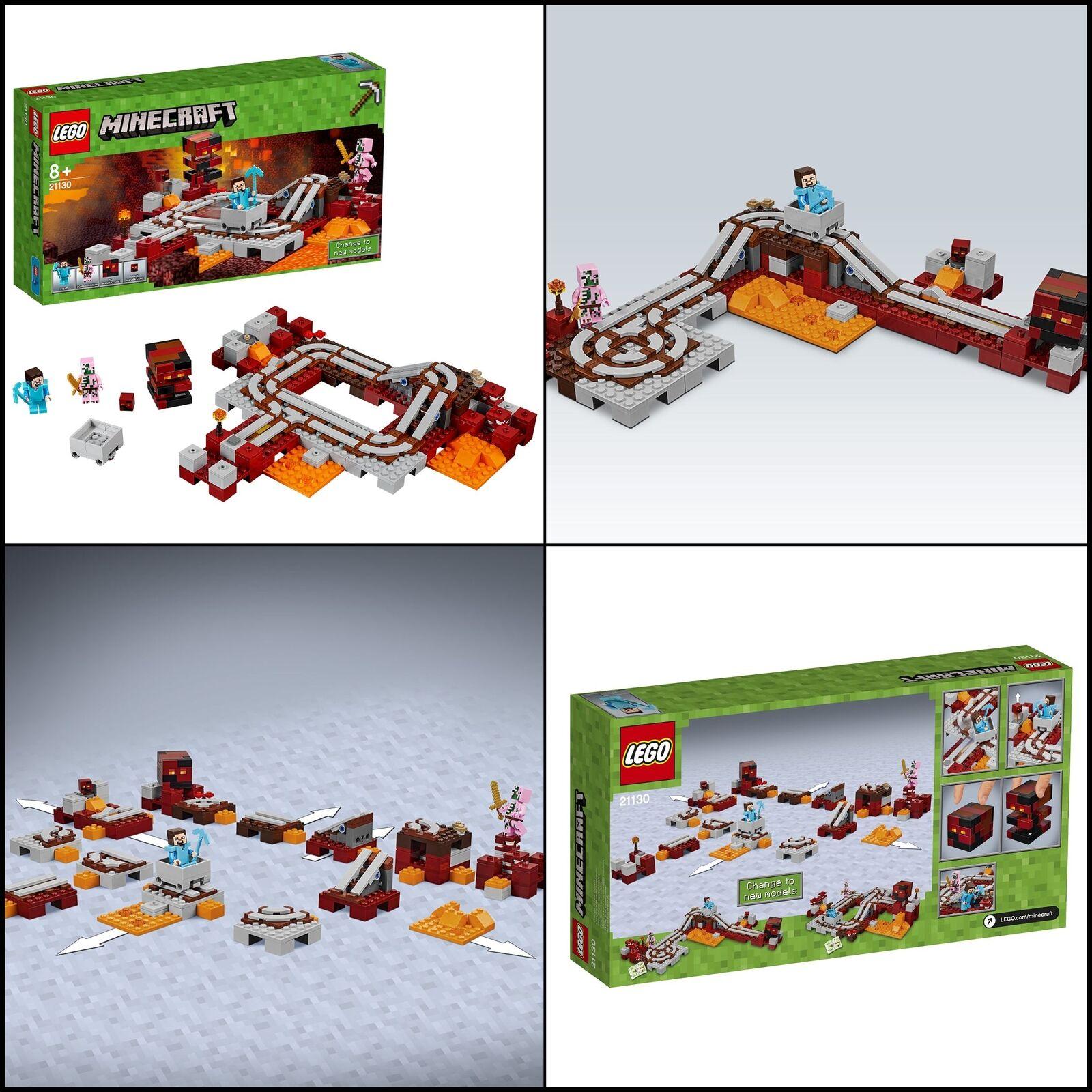 Jouet LEGO Minecraft Les rails de Nether 21130 Jeu de Construction garçon fille