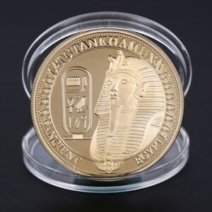 Gold-Plated-Coins-Ancient-Egypt-Sphinx-Coins-Collection-Gift-Challenge-CoinYEDE