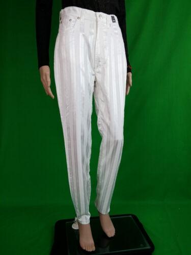 White New 90er Hose Jahre Damen An87 Vtg Versace Rare Sz 31 Collectable Lux Velvet O0PymN8nvw