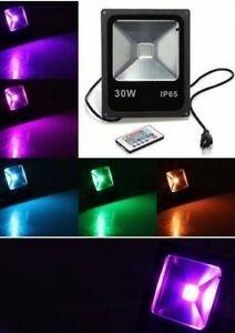20-30-50-100-150-200-Watt-LED-RGB-Flood-light-Outdoor-Slim-Spotlight-black
