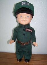 "SINCLAIR OIL CO.  13"" STATION ATTENDANT  ADV.DOLL FOR LION UNIFORM BUDDY LEE"