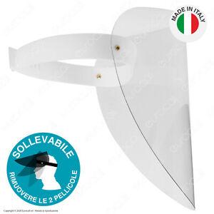 VISIERA-Parafiato-Regolabile-Trasparente-PLEXIGLASS-Paraschizzi-Schermo-Viso