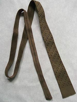 Cravatta Da Uomo Vintage In Pelle Scamosciata Slim Jim Skinny Cravatta Retrò 1970s Brown Stelle-