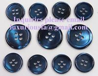 Navy Trocas Genuine Shell Buttons Set For Suit, Blazer, Or Sportcoat