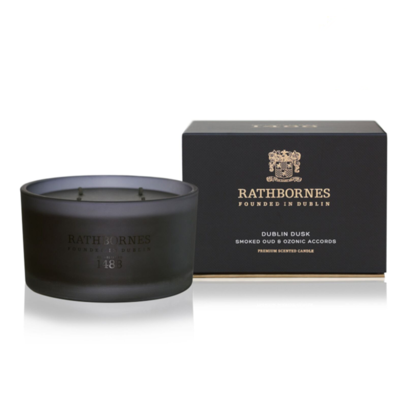 Luxury Candle - 'Dublin Dusk' Smoked Oud & Ozonic Accords