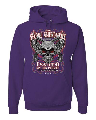 The Second Amendment Issued My Gun Permit Hoodie 2A Gun Rights Sweatshirt