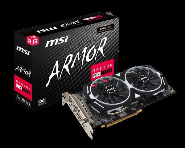 MSI Radeon RX 580 4GB Armor OC Graphics Card 2