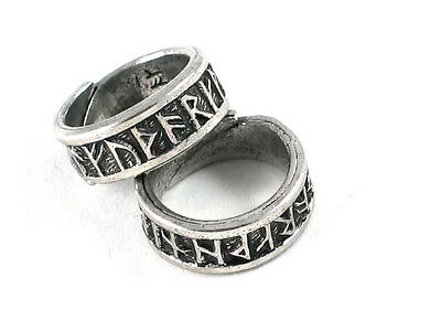 Viking Solid Pewter adjustable Rune band ring Celtic .Norse, reenactment, Thor